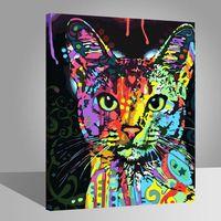 chat color peintures diy 40x50cm avoir diy peinture cadre toile peinture tableau art d co. Black Bedroom Furniture Sets. Home Design Ideas