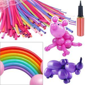 BALLON DÉCORATIF  200pcs multicolores Modélisation ballons longs ave
