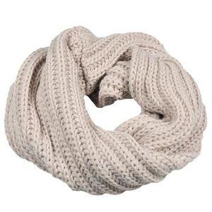 ECHARPE - FOULARD Cercle tricotée écharpe en laine d hiver Col Châle ... 3c2096df3f0