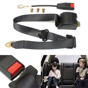 bc7d7584b3213 Universel 3 points réglable ceinture de sécurité du véhicule Auto Voiture  Car Seat Belt +Boulons