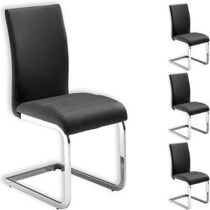 chaise lot de 4 chaises de salle manger leticia piteme - Chaise En Cuir