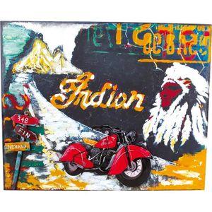 TABLEAU - TOILE Tableau moto style vintage