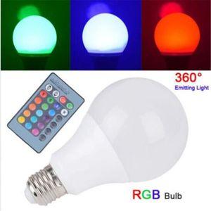 AMPOULE - LED TEMPSA 4Pcs E27 RGB LED Ampoule 5W Changement Coul