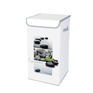 CASIER POUR MEUBLE HOMEA Coffre à linge avec couvercle Stone 30x30x60