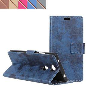 HOUSSE - ÉTUI Bleu Cuir pour Sony Xperia L2 L2DS Étui, [Erdong®]