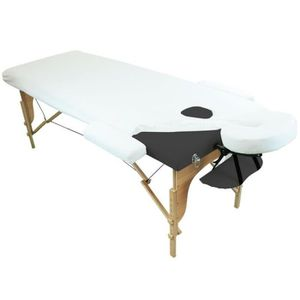 TABLE DE MASSAGE Drap housse de protection 4 pièces en éponge pour
