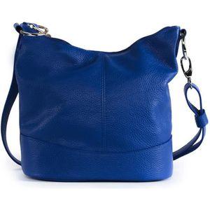 SAC À MAIN Sac à main femme en cuir - Modèle Beaubourg bleu r
