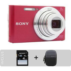 APPAREIL PHOTO COMPACT Appareil photo compact SONY Pack DSC-W830 rose + E
