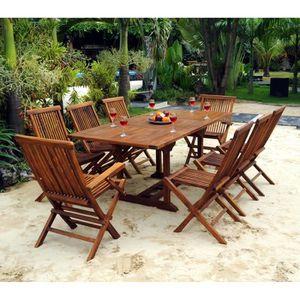 Salon de jardin avec rallonges - Achat / Vente pas cher