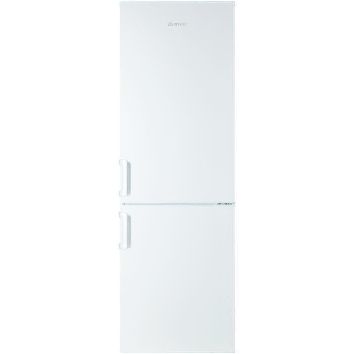 BRANDT BFC3852BW - Réfrigérateur combiné - 287 L (205L + 82 L) - Froid brassé / statique congélateur - A+ - L 59 x H 185 cm - Blanc