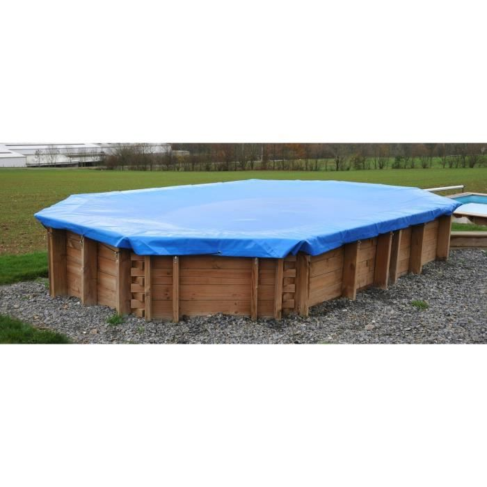 SUNBAY Bâche hiver pour piscine - 12,00 x 4,00 m
