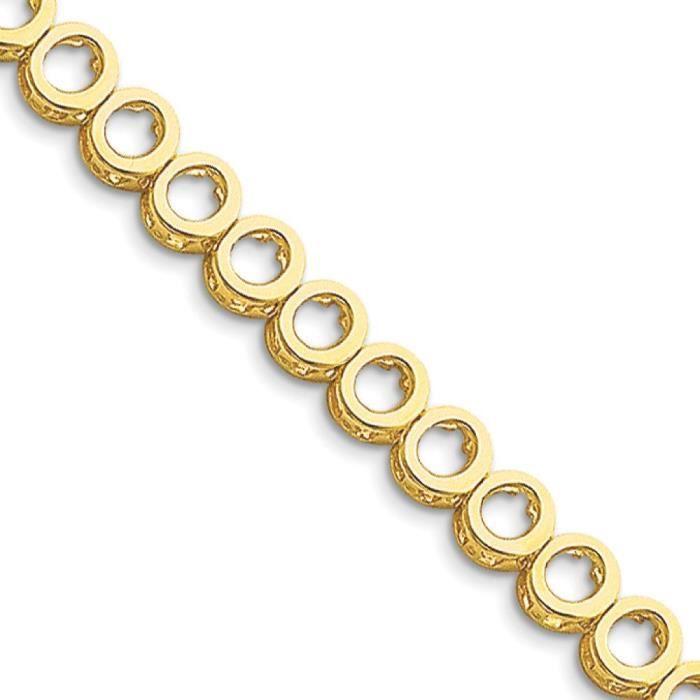 Ajouter a-Rough 14 carats-Diamant-Bracelet de Tennis