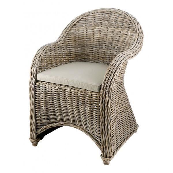 Fauteuil repas en rotin kubu tressé - Achat   Vente fauteuil ... e5d7c10178d7