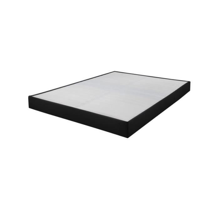 SOMMIER Sommier tapissier 160x200 Omega simili noir 2x17 l