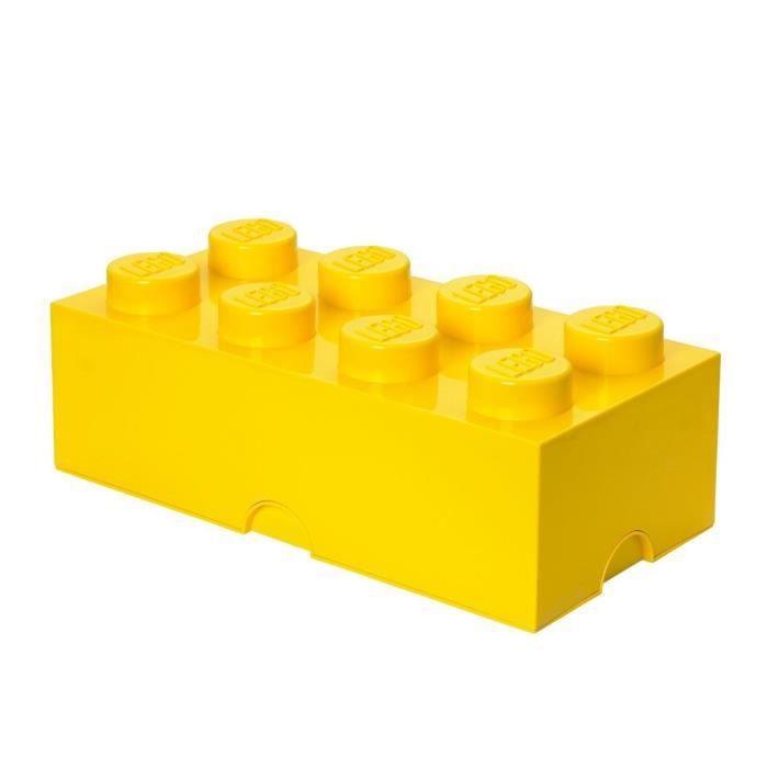 Lego Brique De Rangements Empilable Jaune 8 Plots 18 X 25 X 50 Cm Achat Vente Petit