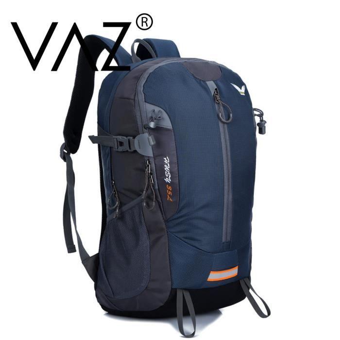 VAZ® Sac à dos professionnel home et femme étanche Nylon Backpacks 35L capacitédu sport,voyage, ,camping- VAD15 Bleu foncé