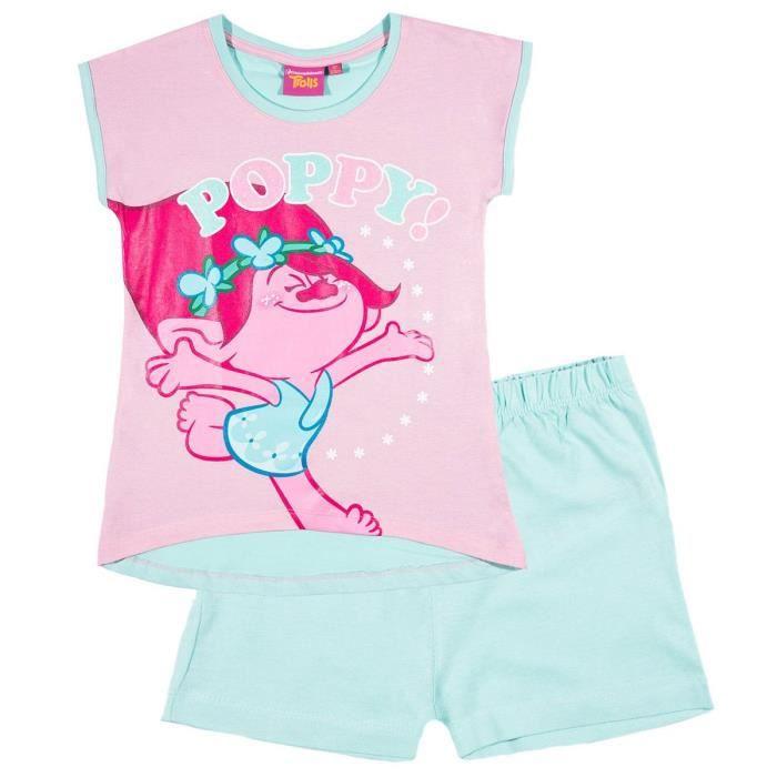 b7cc971b87ae9 Pyjama court enfant fille Trolls Rose/bleu de 4 à 12ans - Rose/bleu, 8 ans