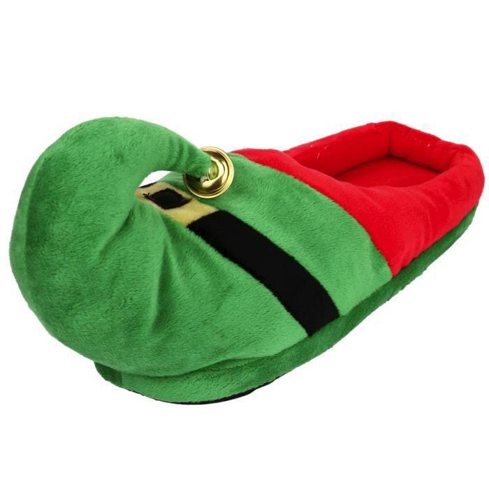 Hiver Pantoufles Pour Enfants Noël Garçon Fille Pantoufles En Peluche HZ-XZ135Vert