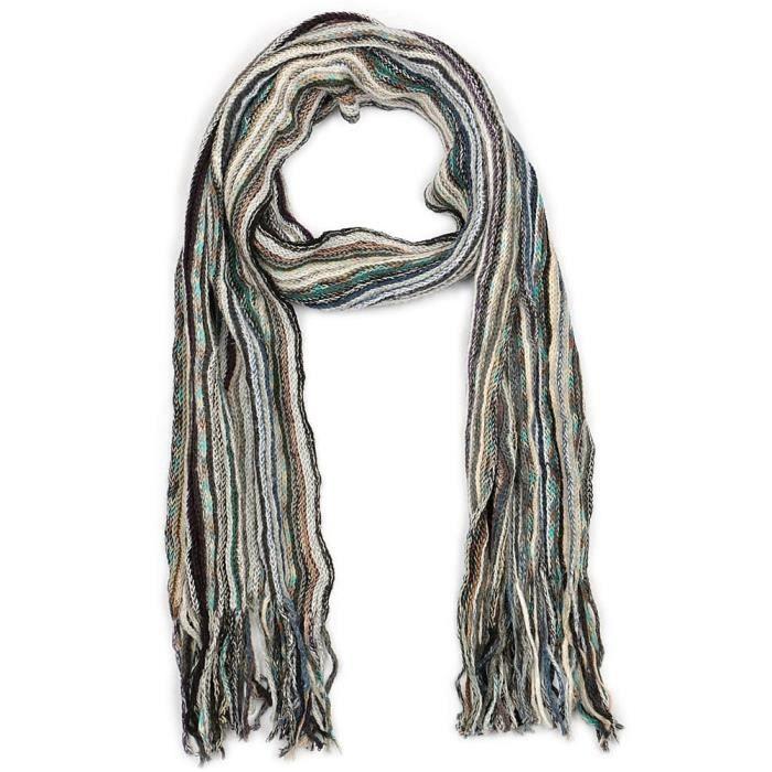 Echarpe Homme et Femme en laine Jo par Nyls Création - Echarpe grise et  bleue aux belles nuances de couleurs pour un style tendance a09ef5e5135