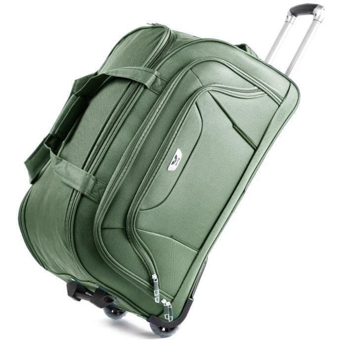 détaillant en ligne ae70b bcf98 Sac Voyage/Avion   Moyenne   Soute   Légère 2,40 kg   CODURA 1200D souple    Fermeture Glissière   2 Roulettes   vert fonce Vert