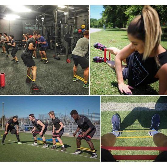 Set de 5 Bandes élastiques Sport Fitness Bandes de résistance   d exercice  en Latex naturel écologique 8c0c5271af6