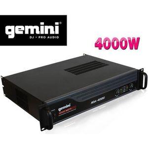 AMPLI PUISSANCE Gemini Ampli XGA-4000 - 4000 Watt IPP Indicateurs