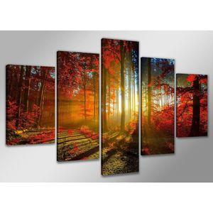 TABLEAU - TOILE Tableau moderne imprimé 160 x 80 cm - FORET