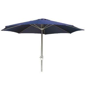 parasol parasol avec manivelle bleu marine dm with table manivelle maison du monde. Black Bedroom Furniture Sets. Home Design Ideas