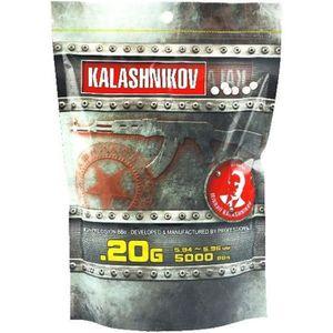 ENTRETIEN ARME DE TIR Sachet de 5000 Billes KALASHNIKOV Blanches 6mm 0,2