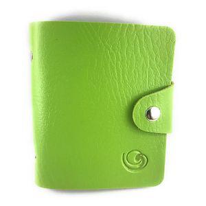 PORTE CARTE Lagiwa® Mini Classeur VERT Porte-cartes Cartes de