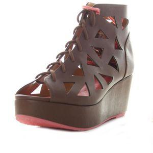 SANDALE - NU-PIEDS 55DSL BY DIESEL sandales à talons compensées femme