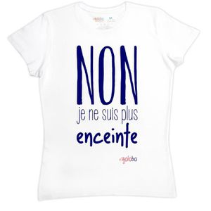 T-SHIRT T-shirt femme en coton NON Je ne suis plus enceint