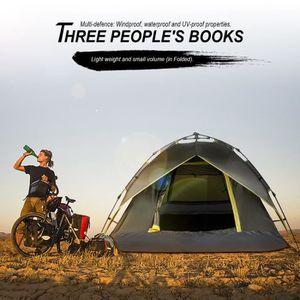 TENTE DE CAMPING Tente de camping pour 3 personnes vert armée plian