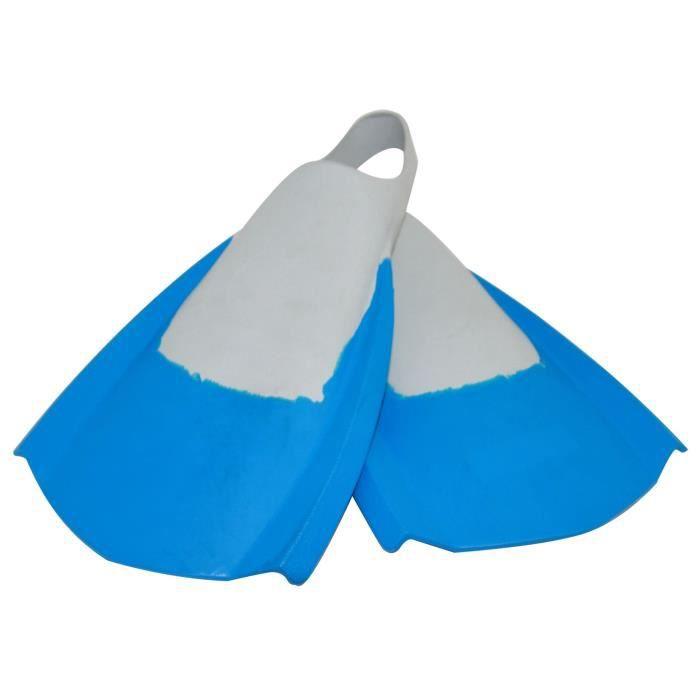 Palmes asymétriques - Bleu et gris - Elles sont aussi bien en bodyboard qu'en bodysurfPALME