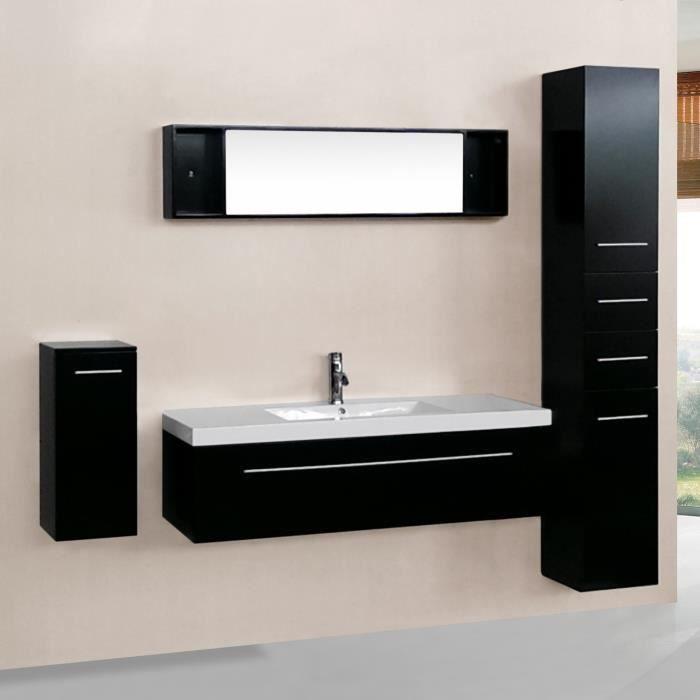Meuble colonne salle de bain wenge - Achat / Vente pas cher