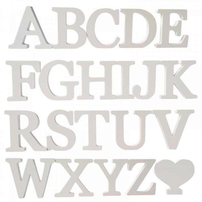 Alphabet En Bois Decoratif