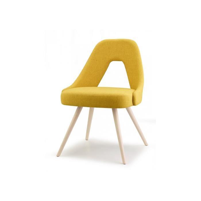 CHAISE Chaise Design En Tissu YOU Par SCAB Jaune