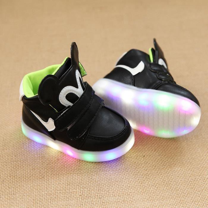 Mode bébé enfants Sneakers conduit lumière chau...