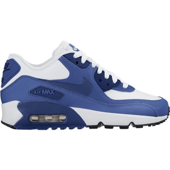 brand new 554f3 d9a0e BASKET Chaussures Nike Air Max 90 Leather GS