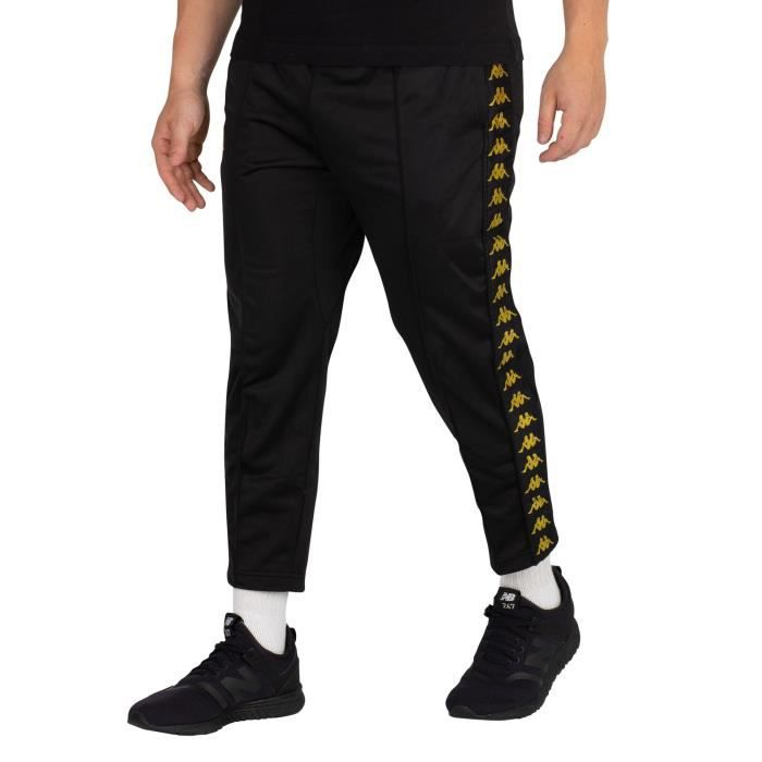 Kappa Homme Joggers Adern Cropped, Noir
