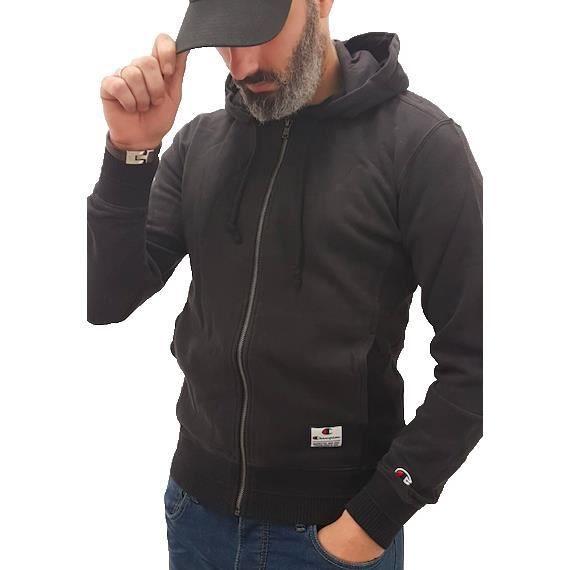 Nbk 212175 Champion Full Noir Kk001 Hooded Zip Veste lT5Kc3JFu1