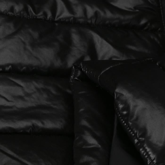 Fourrure Veste Manteau Matelassée Courte Nouveaux noir Hiver Parka Coton Femmes Doudoune Collier À Capuchon 4nw64q