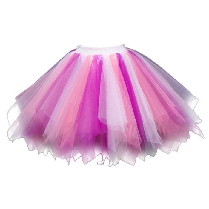 Ski couche Jupon Ballet femmes Tutu 3j8zov Danse 1950 Mini Crinoline Vintage Jupe Petticoat Taille m Multi Hn7qCv0