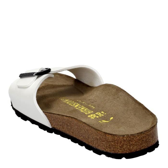 Birkenstock Sandale Bas Unisexe Blanc, 41