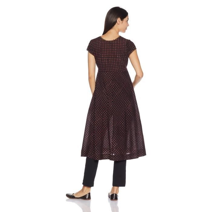 Womens Cotton A-line Dress AS1Q4 Taille-38