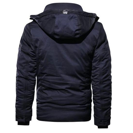 Épaissie Mode Cachemire Respirant Manteau Hommes Outwear Bleu Poche Marioyuzhang D'hiver Coton nHqEItfax