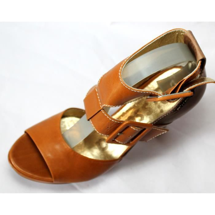 CHAUSSURES LUXE FEMME SANDALES 100% CUIRT 37