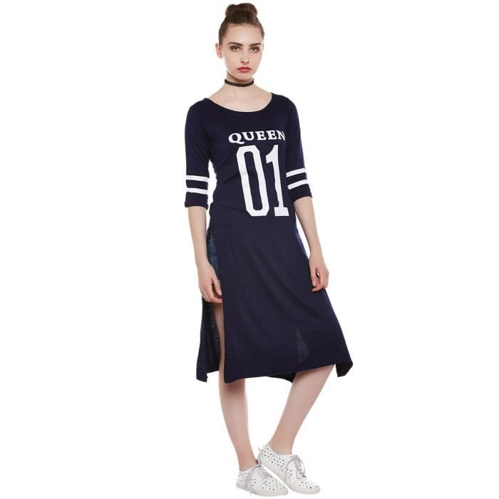Womens Queen Printed Designer Dress For Girls AndLQCUE Taille-34