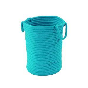 CASIER POUR MEUBLE Panier Tamtam - 100% coton - 45x40x30 cm - Bleu tu