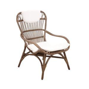 fauteuil fauteuil en rotin gris vintage - Fauteuil Rotin Vintage